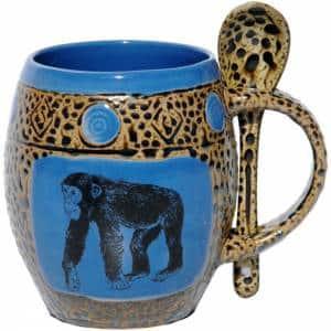 Chimp Blue Mug